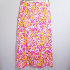 Vintage 60's Lilly Pulitzer Maxi Skirt Size 16/M